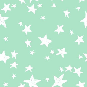 stars // mint green star fabric nursery baby star design scandi fabric by andrea lauren