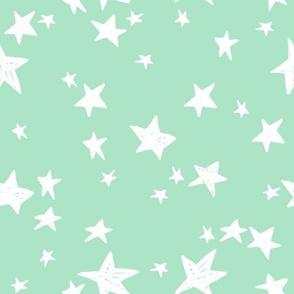 stars // mint green star fabric nursery baby star design scandi fabric by andrea lauren