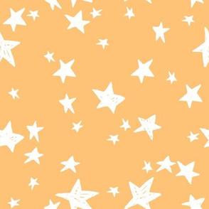 stars // papaya orange star fabric nursery pastel blush design andrea lauren fabric