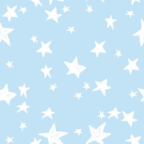 stars // powder blue star fabric nursery baby design andrea lauren fabric pastel baby blue