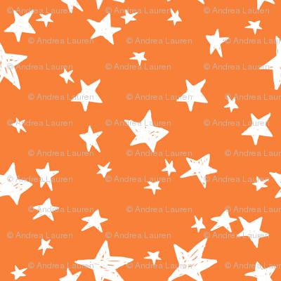 stars // pumpkin orange star fabric orange halloween design andrea lauren