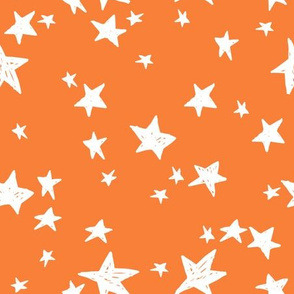 stars // pumpkin orange star fabric orange halloween design andrea lauren