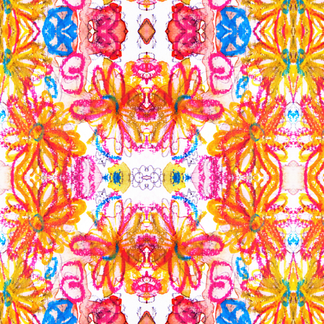 oh happy flowers fabric by marigoldpink on Spoonflower - custom fabric