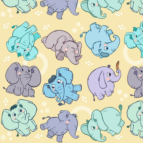 Elephants Nursery Pattern