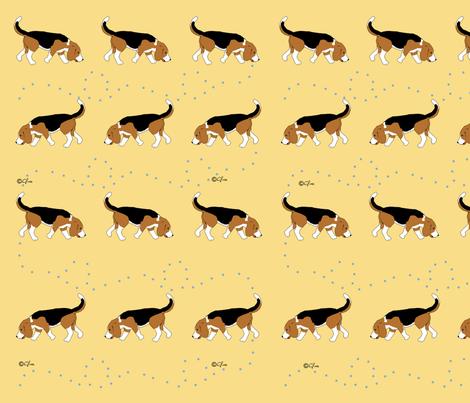 Official Sleeptown Beagles Design Yellow fabric by sleepytown_beagles on Spoonflower - custom fabric