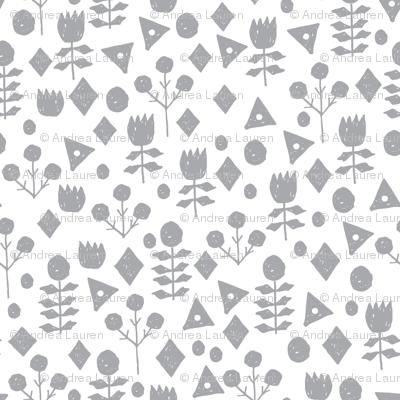 geo floral // grey and white florals simple flower design andrea lauren