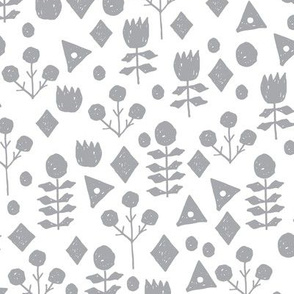 geo floral // grey and white florals simple flower design andrea lauren