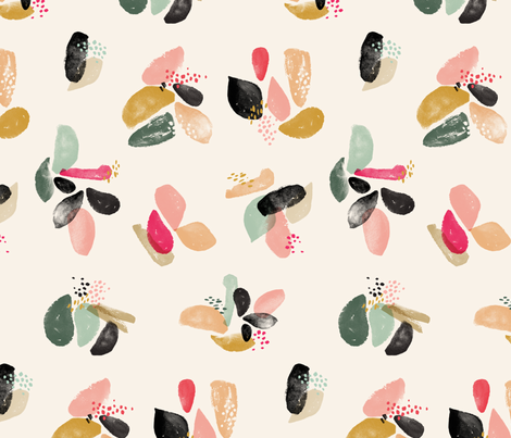 Spring Blobs '17 fabric by acdesign on Spoonflower - custom fabric