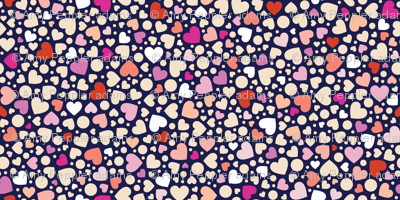Ditsy Hearts* (Reds on Jackie Blue) || valentine love Valentines Day candy