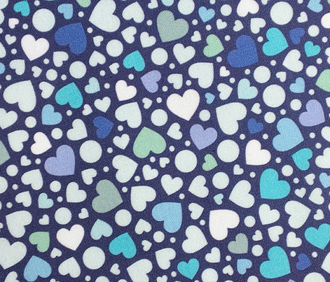 Ditsy Hearts* (Blues on Jackie Blue) || valentine love valentines day candy