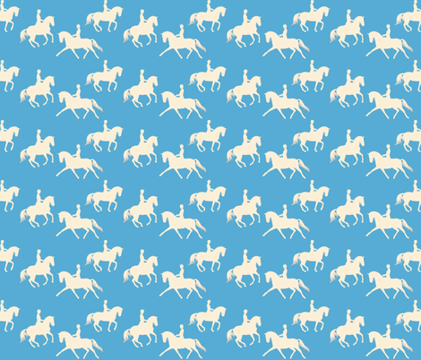 Cream Silhouette on Light Blue fabric by cadence&co on Spoonflower - custom fabric