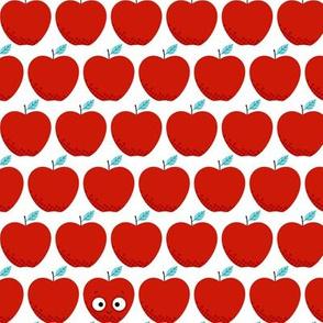 Little Baby Apples, Smiling Apples - Light Blue