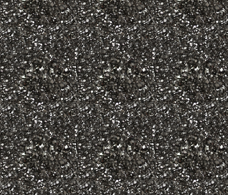Stones // Grey Hematite Crystal fabric by stars_and_stones on Spoonflower - custom fabric