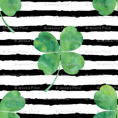 "3/4"" clover on stripes 
