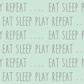 EAT SLEEP PLAY REPEAT (mint)