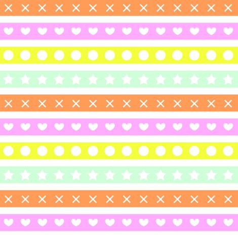 O Star X Heart fabric by lilmoontreasures on Spoonflower - custom fabric