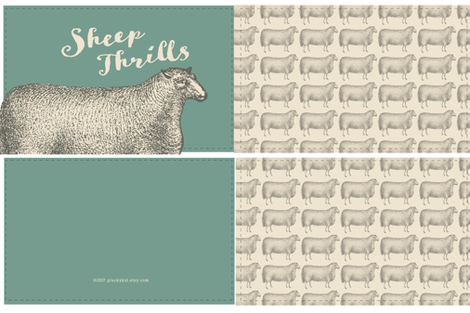 Sheep Thrills Cut 'n' Sew-Sage fabric by pluckykid on Spoonflower - custom fabric