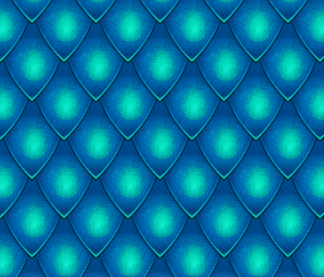 Dragon Scale - Blue fabric by samalah on Spoonflower - custom fabric