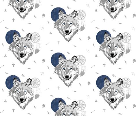 Boys Boho Wolf - More Space fabric by shopcabin on Spoonflower - custom fabric