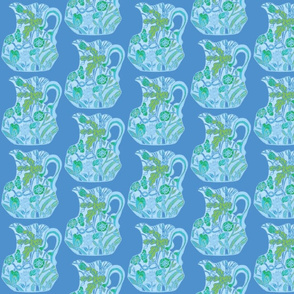 Third Tier Pastel Pitcher Turquoise Sky Blue Light Blue Lime