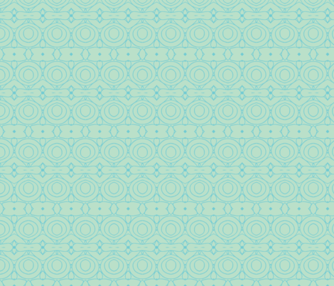 Third Tier Round About Aqua Turquoise fabric by serendipity_textiles on Spoonflower - custom fabric