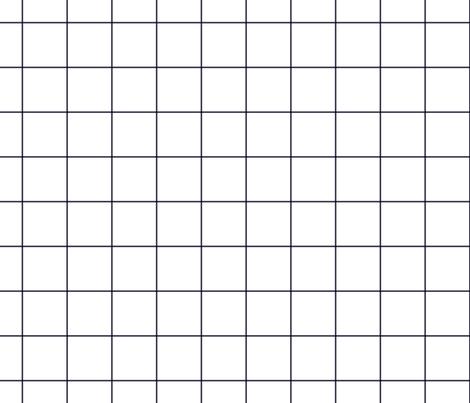 "midnight blue windowpane grid 2"" square check graph paper fabric by misstiina on Spoonflower - custom fabric"