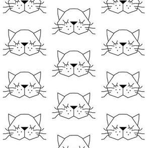 white geometric kitty face