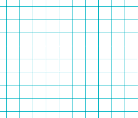 """surfer blue windowpane grid 2"""" square check graph paper fabric by misstiina on Spoonflower - custom fabric"""