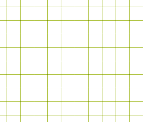 "lime green windowpane grid 2"" square check graph paper fabric by misstiina on Spoonflower - custom fabric"