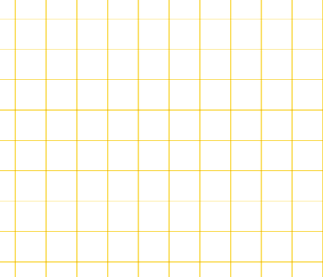 "butter yellow windowpane grid 2"" fabric by misstiina on Spoonflower - custom fabric"