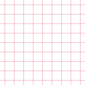 "pretty pink windowpane grid 2"" square check graph paper"