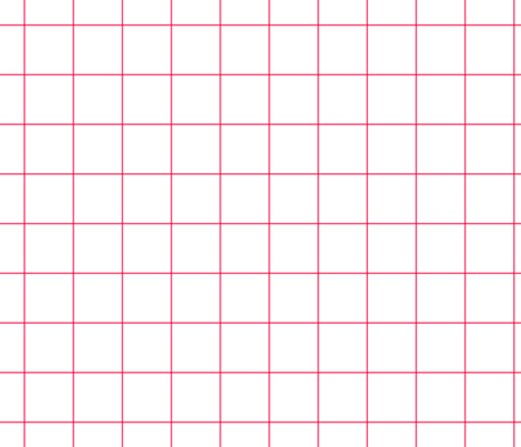 "hot pink windowpane grid 2"" square check graph paper fabric by misstiina on Spoonflower - custom fabric"
