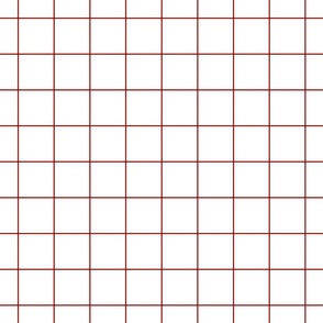 "dark red windowpane grid 2"" square check graph paper"