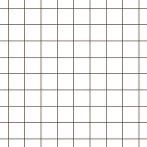"brown windowpane grid 2"" square check graph paper"