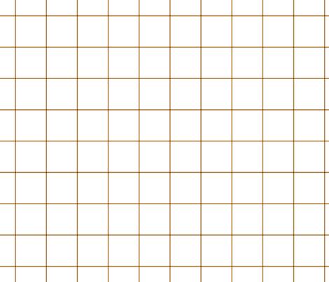 "caramel windowpane grid 2"" fabric by misstiina on Spoonflower - custom fabric"