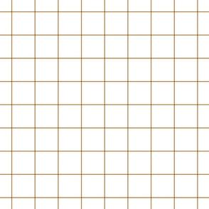 """caramel windowpane grid 2"""" square check graph paper"""