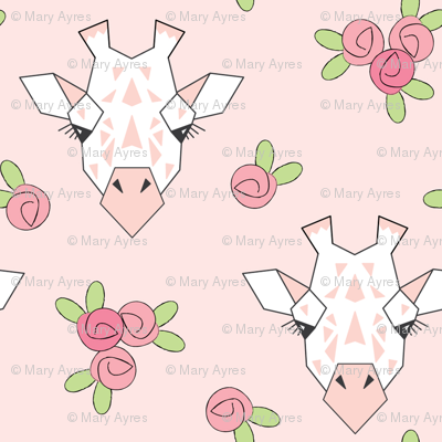 small giraffe-and-roses-on-soft-pink