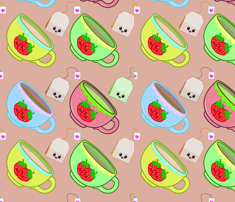 You're My Cup of Tea  fabric by trishdobsondesigns on Spoonflower - custom fabric