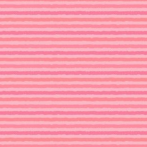 Pink-Coral Mini-Stripes