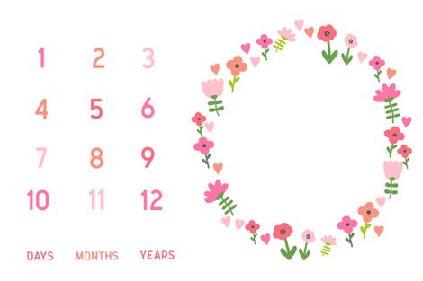 "54"" x 36"" flowers and hearts baby milestone blanket girls baby girl fabric fabric by charlottewinter on Spoonflower - custom fabric"