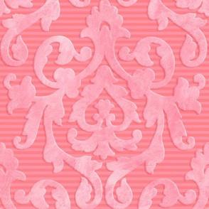 Pink-Coral Damask Medium