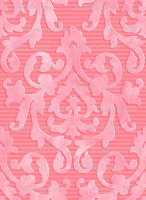 Pink-Coral Damask XS