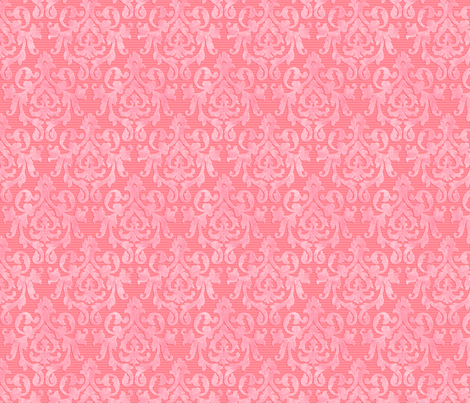 Pink-Coral Damask XS fabric by piper_&_paige on Spoonflower - custom fabric