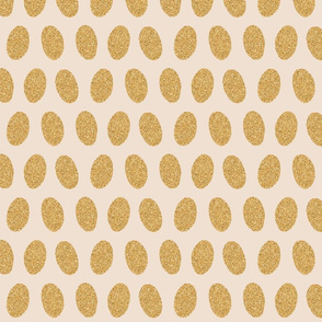 Gold Foil Eggs on Buttercream