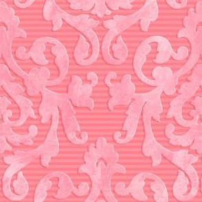 Pink-Coral Damask Small