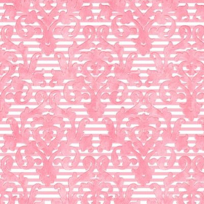 Pink Damask-Stripe Sleeve