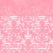 Pink Damask-Stripe Sleeve