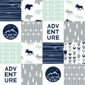 Adventure Wholecloth  || Northern lights patchwork
