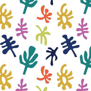 Matisse Leaves_white