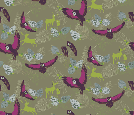 In the Mountains green fabric by colour_angel_by_kv on Spoonflower - custom fabric